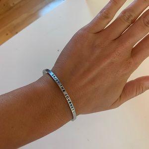 """Enjoy the journey"" Silver Cuff Bracelet"